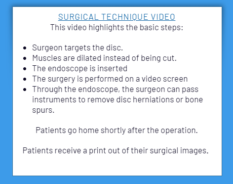 Screenshot 38 showing the concept of Endoscopic Spine Surgery Procedure
